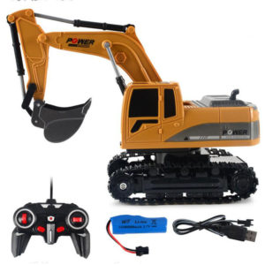 1027 2.4G 6 Channel 1/24 RC Excavator Toy Engineering Car Alloy And plastic RTR For Kids With Light