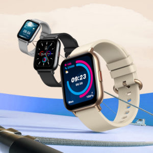 [24 Goal-Based Exercises] Zeblaze GTS Pro 1.65inch HD Touch Screen BT5.0 7x24h Heart Rate Monitor Spo2 Level Measurement
