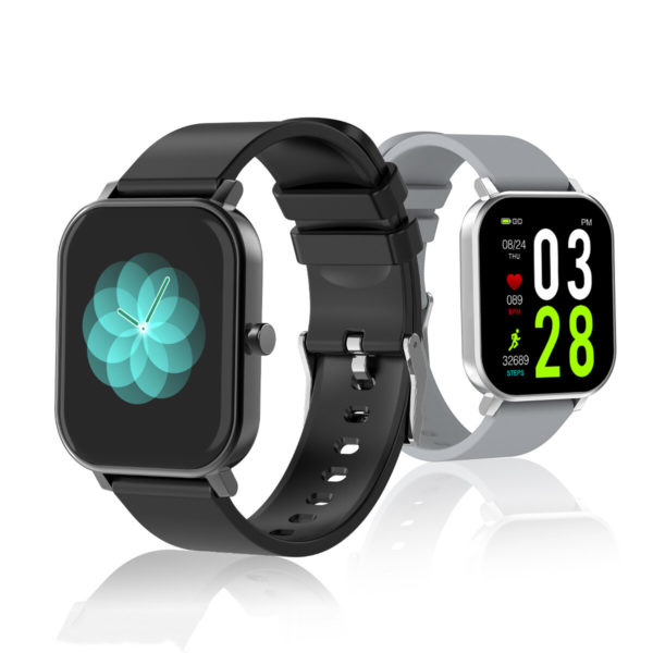 [24 Professional Sport Modes] ALLCALL S10 1.69 inch Touch Screen Heart Rate Blood Pressure Oxygen Monitor BT 5.0 IP68 Wa