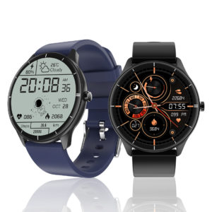 [3.5D Curved Glass Screen] Bakeey Q21 1.28 inch Large Round Display Real-Time Body Temperature Detection Heart Rate Bloo