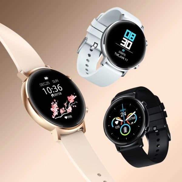 [30 Days Standby]Zeblaze GTR 1.3'' Full Touch Curved Screen bluetooth 5.1 Heart Rate Blood Pressure Monitor Female Cycle