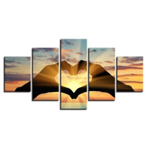 5 Pcs Wall Decorative Painting Couple Love Group Wall Decor Art Pictures Canvas Prints Home Office Hotel Decorations