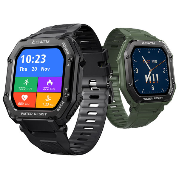 [50 Days Standby]Kospet Rock 1.69 Inch Large Screen Heart Rate Blood Pressure SpO2 Monitor 20 Sport Modes bluetooth 5.0