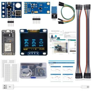 AOQDQDQD ESP8266 Weather Station Kit with Temperature Humidity Atmosphetic Pressure Light Sensor 0.96 Display for Arduin