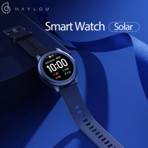 [BT 5.0]Haylou Solar LS05 Full Round Screen Wristband 12 Sport Modes Tracker Heart Rate Monitor 30 Days Standby Smart Wa