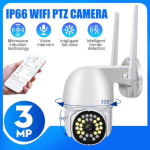 Bakeey 1080P 3MP HD Smart WiFi IP Camera Wireless Night Vision Two Way Voice Call Smart Camera Security Camera