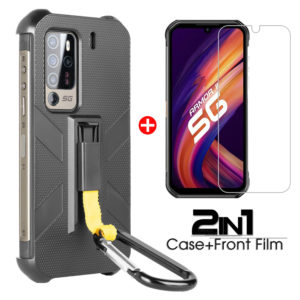 Bakeey 2-IN-1 for Ulefone Armor 11/ Ulefone Armor 11T 5G Case with Anti-Lost Hook Protective Case + 9H Anti-Explosion Te