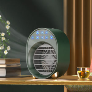 Bakeey 3 Gear Mini Water Cooling Fan Spray Humidification Portable Colorful Night Light Air Cooler Table Fan