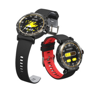 BlitzWolf® BW-AT1 Full Screen Touch Dymanic UI Display Heart Rate Blood Pressure Oxygen Monitor Weather Push Smart Watch