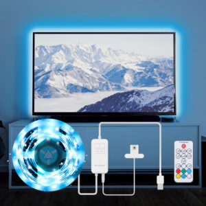 BlitzWolf® BW-LT32 2M USB RGB TV Strip Light Kit Sync with TV Screen Color 3 Sides Cover for TV Vivid RGB Color Lighting