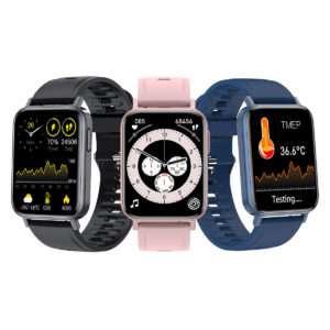 [Body Temperature Detection]Bakeey T10 Pro 1.65 inch Color Screen Heart Rate Blood Pressure Oxygen Monitor 30 Sports Mod