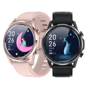 [Body Temperature Monitoring] Senbono Youth2 1.28 inch Touch Screen Heart Rate Blood Oxygen Measurement Female Menstrual
