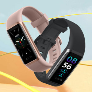 Doogee DG Band Bulit-in Alexa Wristband 24H Heart Rate Monitor SpO2 Monitor 14 Sports Modes Custom Dial Real-Time Weathe