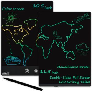 [Dual Screen] NUSITE 11.5/10.5 Inch Full Screen LCD Writing Tablet Ultrathin 2 in 1 Double Side Handwriting Drawing Note