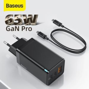 [GaN Tech] Baseus GaN2 Pro 65W 3-Port USB PD Charger Dual 65W USB-C PD3.0 QC3.0 FCP SCP Fast Charging Wall Charger Adapt