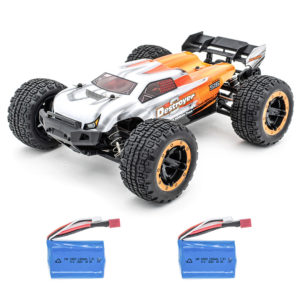 HBX 2.4G 2CH 1/16 16890 Brushless RC Car High Speed 45KM/H Big Foot Vehicle Models Truck Two Battery