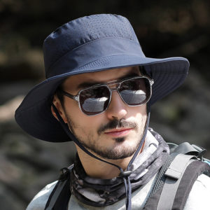 Men 360 Degree Protection Wide Brim Outdoor Fishing Climbing UV Protection Sunshade Waterproof Breathable Bucket Hat