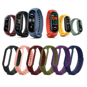 [Multi-Color] Bakeey Comfortable Lightweight Pure TPU Watch Band Strap Replacement for Xiaomi Mi Band 6 / Mi Band 5 Non-