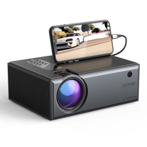 [Newest Version]Blitzwolf® BW-VP1-Pro LCD Projector 2800 Lumens Phone Same Screen Version Support 1080P Input Dolby Audi