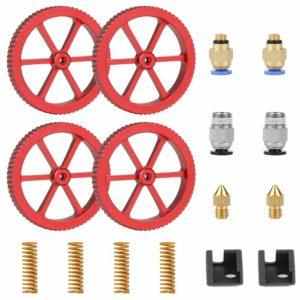 SIMAX3D® 4Pcs Aluminum Red Leveling Nut with Hot Bed Mold Spring Upgrade Accessories Kit for Ender 3/3 Pro/5 3D Printer