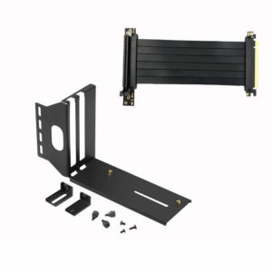 SKTC VGA Graphics Card Vertical Mounting Bracket PCIE 16x Extension Cable PCI-E 3.0 x16