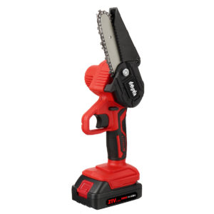 [Upgrade] Mensela CS-L1+ 4 Inch Mini Cordless Electric Chain Saw LED One-Hand Saws Woodworking Wood Cutter W/ 1pc or 2pc