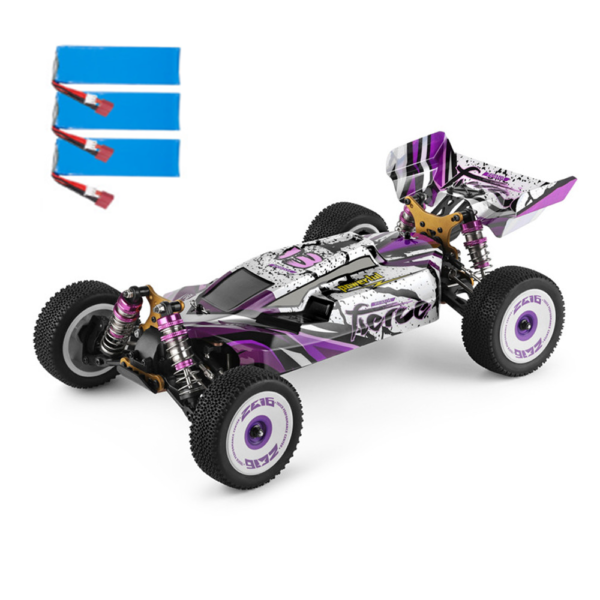 Wltoys 124019 Several Battery RTR 1/12 2.4G 4WD 60km/h Metal Chassis RC Car Vehicles Models Kids Toys