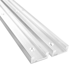 Woodworking Aluminium Alloy 19 T Track T-Track T-slot Slide Chute Miter for Saw/Router Multifunctional Table Board