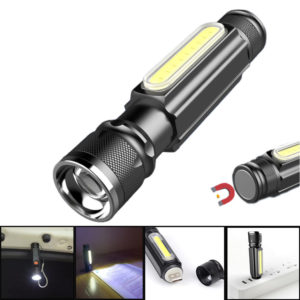 XANES® A516 800LM T6+COB Zoomable Multifunction LED Flashlight with Magnet Handy&18650 Li-Battery USB Rechargeable Work