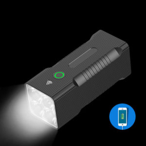 XANES® BT60 P50 8000lm Flashlight 6 Modes USB Rechargeable Work Lamp with 10400mAh Mobile Phone Power Bank Function