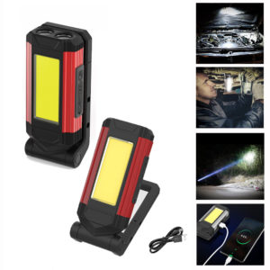 XANES® K11 COB+2XPE 10W 400LM Multifunctional Work Light with Magnet&Hook Mobile Phone Power Bank Waterpoof Torch USB Re