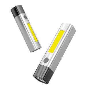 XANES® XPG3 Stepless Dimming LED Flashlight with COB Sidelight USB Rechargeable & Output As Mobile Phone Power Bank Come