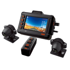 XBHT XB702 3inch 1080P HDR Motorcycle DVR Speedometer Waterproof Dual Dash Camera Front Rear View GPS Track Driving Vide