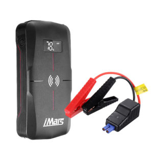 iMars J03 Portable Car Jump Starter 16000mAh 1300A Emergency Battery Booster 10W Wireless Charging QC3.0 Power Bank Wate